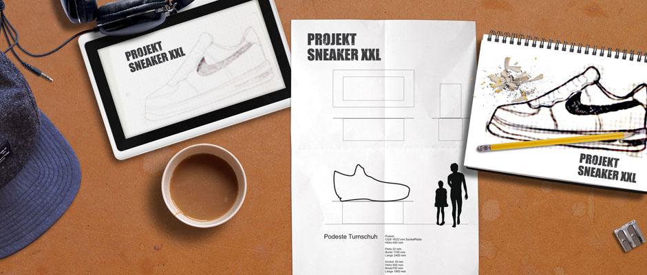 Planung Bau Sneaker XXL