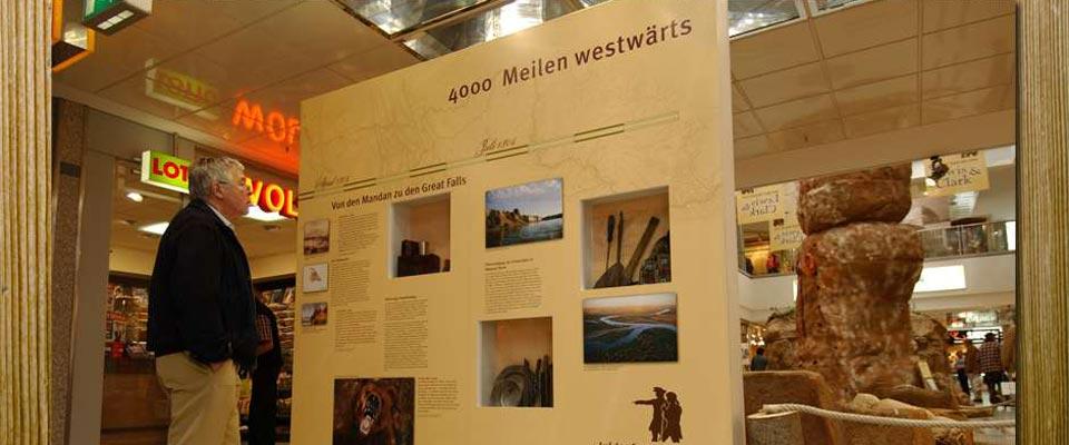 Schautafel - Ausstellung - Lewis und Clark