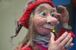 Troll Oskari aus der Weihnachtsdekoration Allee-Center Leipzig